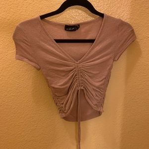 Mauve cinched urban outfitters t shirt